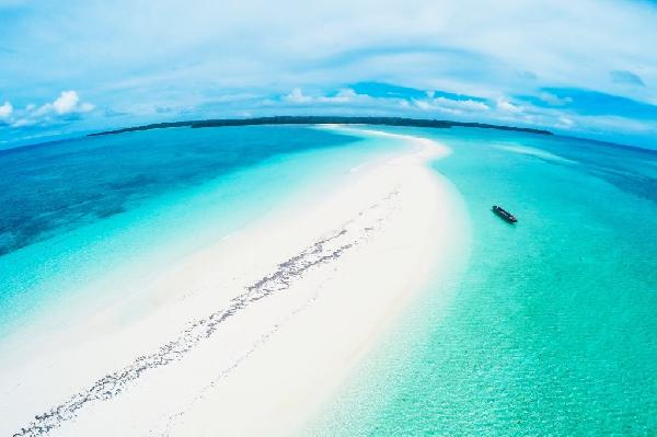 Ngurtafur Beach in Kei Islands, Southeast Maluku Regency